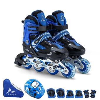 Size S(30-33)Kid's Roller Skates Shoes Athletic Roller Shoe for Children PU Material Skating Shoes - intl Price Philippines