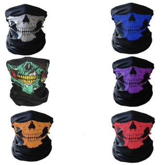 Skull Face Shield Mask Bandanas Skeleton Ski Motorcycle Paintball Scarf Pretend - intl