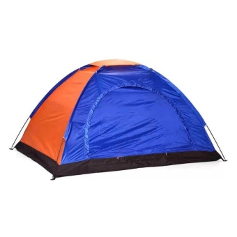 SNS 8 Person Family Camping Tent with Fast Inflatable Sleeping Bed Folding Sofa/Chair (Blue) - 2