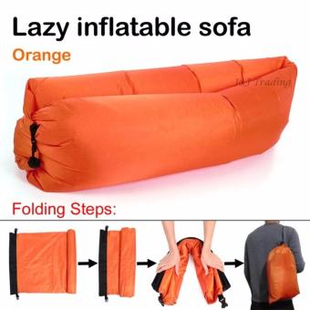 SNS Fast Inflate Air Bed Lazy Sleeping Bed Folding Sofa/Chair (Orange)