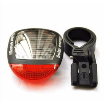 Solar bicycle taillight night riding warning lights flashing lights Mountain bike for riding equipment accessories - intl