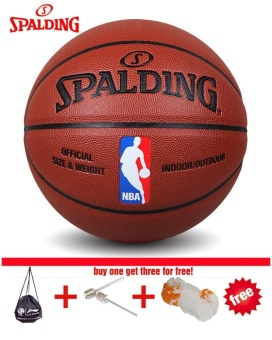 Spalding (74-602Y) NBA Endorsed Grip Control Indoor/Outdoor Competition Official Size 7 Basketball PU material basketball With Net+ bag+ Pin - intl