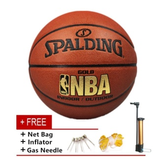 Spalding Basketball Size 7 PU Leather High Quality ProfessionalSport Equipment Basketball Ball - intl
