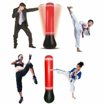 Speed Boxing Training Inflatable Tower Bag Pump as gift - intl