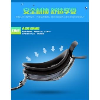 Speedo Swimming Goggles Waterproof Anti Fog Anti UV HD Lens Soft Framework Swim Glasses - intl - 5