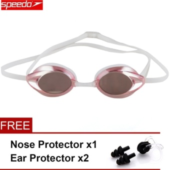 Speedo Waterproof Anti-fog Eye swimming goggles Swim Glasses PC Lens Silicone Strap - intl