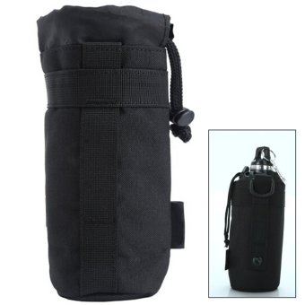 Sport Tactical Gear Military Water Bottle Bag Kettle Pack PouchBlack