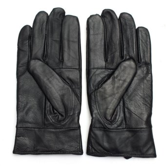 Sports Leather Gloves (Black)