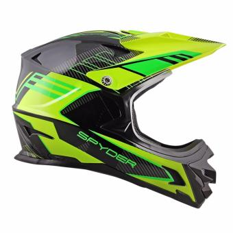 Spyder Downhill Helmet Sigma II G 3392 (Black/Neon Yellow)-Large