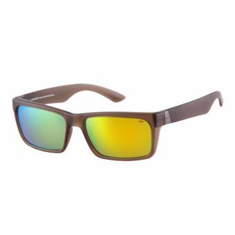 Spyder Lifestyle Eyewear Nixon 3 8B080 PZM (Matte Crystal BrownFrame/ Green Mirror Lenses) - 2