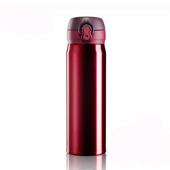 Stainless Steel Vacuum Flask Insulated Hot and Cold Bottle (Maroon)