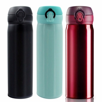 Stainless Steel Vacuum Flask Insulated Hot and Cold Bottle Set 3