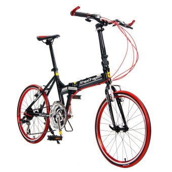 "Stepdragon A808 20"" 24-Speed Alloy Folding Bike (Black) Price Philippines"