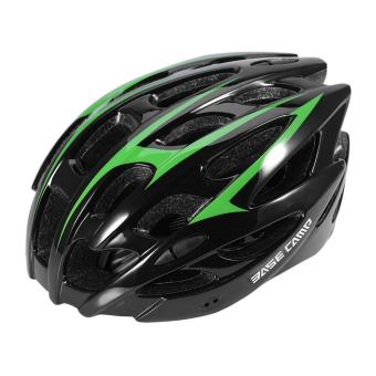 Streamline 28 Holes Mountain Bike Helmet Unisex Protective Helmet (Black and Green) - intl