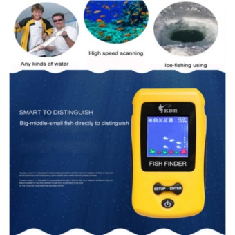 Super Wireless Fish Finder Fishing Depth Sonar Sensor Alarm RadarRechargeable - intl - 2