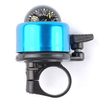 Supercart Universal Cycling Bike Bicycle Security Handlebar Bell Ring Horn with Compass ( Blue ) - INTL - picture 2