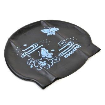 Swans SA-7 Swim Cap (Butterfly Black)