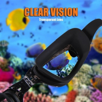 Swim Goggles + Swim Cap + Case + Nose Clip + Ear Plugs,Clear Swimming Goggles Coated Lens No Leaking Anti Fog UV Protection for Adult Men Women Youth Kids Child,Black - intl - 4