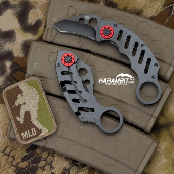 Tactical karambit l knife claw knife (grey)