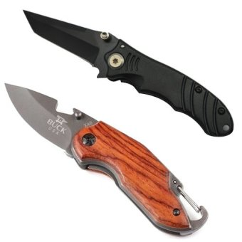 Tanto Folding Pocket Utility Knife (Black) and X48 Camping UtilityKnife