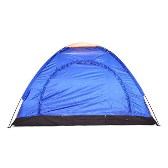 Tena 111 6-Person Dome Camping Tent (Blue) + FREE Rechargeable Police Flashlight with Stun Gun Taser (Black) - 2