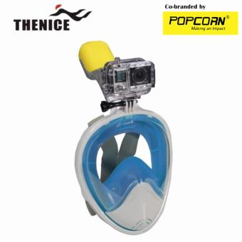 Thenice M2088G Full-Face Snorkeling Ninja Mask with Camera Holder Size S/M