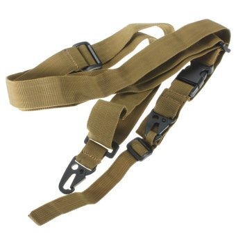 Three Point Rifle AR Sling Adjustable Tactical Swivels System Gun Strap Hunting Khaki