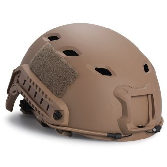 TOMOUNT Tactical Protective Helmet for Airsoft Paintball Combat ABS Metal (Brown)- Intl
