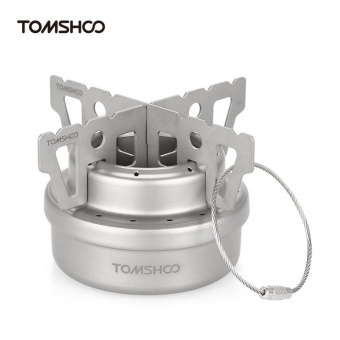 TOMSHOO Outdoor Titanium Alcohol Stove & Rack Combo Set MiniUltralight Portable Liquid Alcohol Stove with Cross Stand StoveRack Support Stand - intl