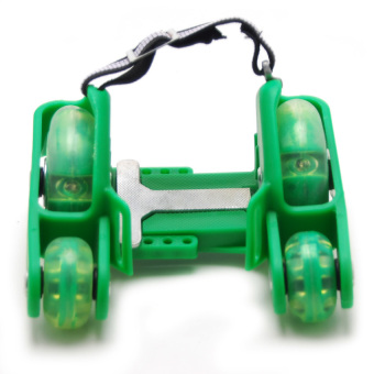 TOY KID 4 Wheels Flashing Roller Skates 0802 Scooter (Green) - picture 2