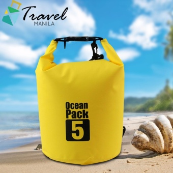 Travel Manila Ocean Pack 5 Portable Water Proof Nautical Dry Travel Tote Bag (Yellow)