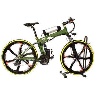 "Truvativ 26"" Folding Electric Mountain Bike Shimano V-BrakeMagnesium Alloy (Land Rover Green) Price Philippines"