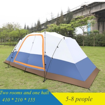 Two Room Lobby Tents Outdoor Camping Rain 5 8 People Bedroom Multi