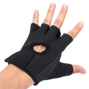 UJS Outdoor Sports Exercise Fingerless Cycling Bike Training Fitness Hunting Gloves S (Intl) - picture 2