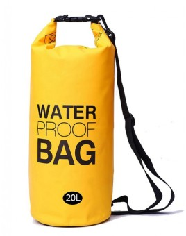 Ultra Light Weight Waterproof Dry Bag Sports Beach SwimmingKayaking Boating Mountaineering Outdoor Bag 20L (Yellow)