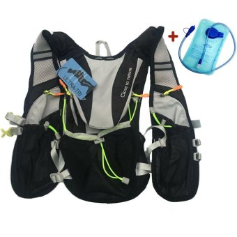 ULTRA-TRI Lightweight Hydration Vest Pack Outdoor Sport Bags TrailRunning Hiking Cycling Water Bladder Backpack - intl
