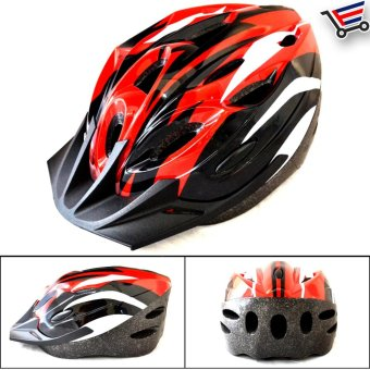 Ultralight Adjustable MTB Cycling Bicycle Helmet (Red/Black)
