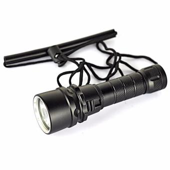 Underwater 100M 2500LM XM-L T6 Mini LED Diving Flashlight 18650 - intl