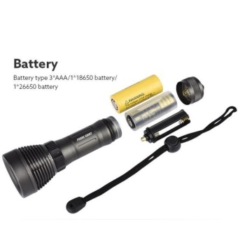 Underwater 500M 5000LM XM-L T6 LED Diving Flashlight Waterproof Torch - intl - 5