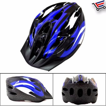 Unisex Adjustable MTB Cycling Bicycle Helmet (Blue/white/black)