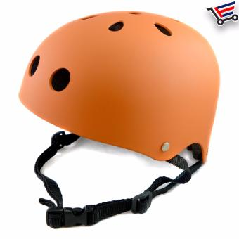 Unisex Bmx Nutshell Bike Cycling Protective Helmet (Orange)