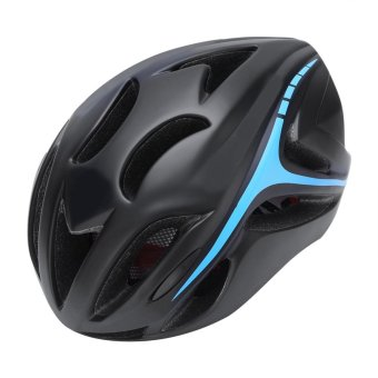 Unisex Safety Protective Bicycle Helmet with Adjustable Strap (Black and Blue) - intl