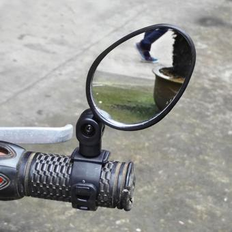 Universal Handlebar Rearview Mirror 360 Degree Rotate Bike MTBCycling - intl