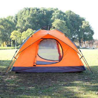 Waterproof Automatic Outdoor 4 Person Double Layer Instant Camping Family Tent (Multicolor)