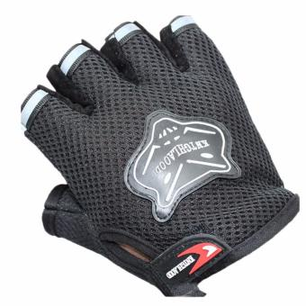 Weight lifting Summer Half Finger Gloves Anti scratch SoftComfortable Gloves (Black) Price Philippines
