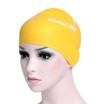 Whale men and women waterproof hair silicone swimming cap