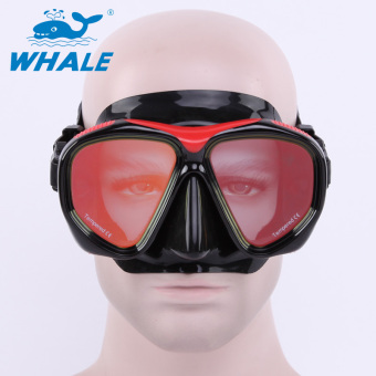 Whale Profession Anti-fog Plating Swimming Goggles Glasses ScubaSnorkel Diving Mask(Red)
