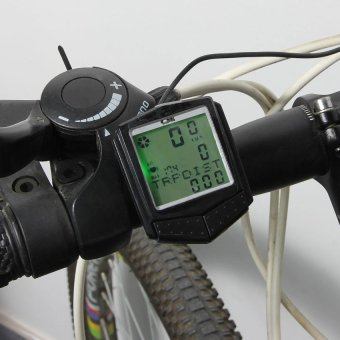 Wireless Bicycle Bike Cycle LCD Computer Speedometer Odometer Heart Rate Monitor - INTL - picture 2