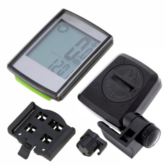 Wireless LCD Bike Speedometer Cycling Computer With Cadence &Heart Rate Meter Speedometer - intl