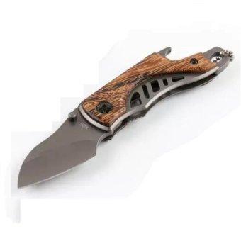 X65 Pocket Folding Knife Wood Handle with Bottle Opener #0940 - 2